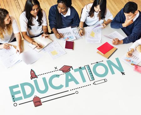교육 기술 업적 논리적 실습 스톡 콘텐츠