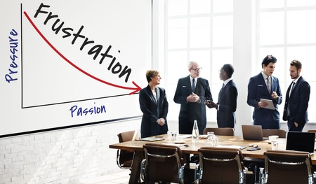 Business people with frustration concept