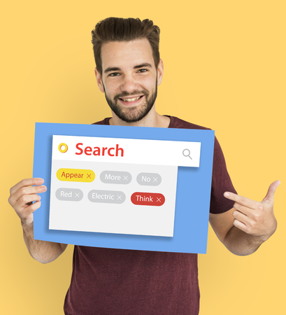 Word search look up random tags Stock Photo