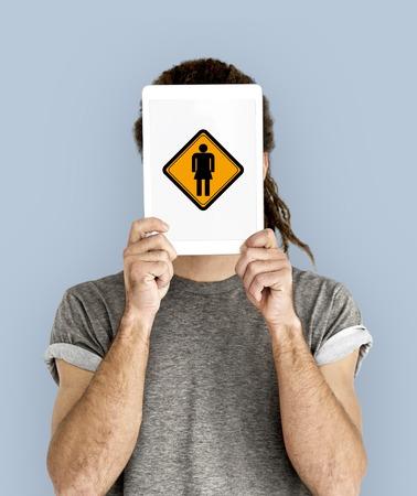 Women Toilet Restroom WC Sign Stock Photo