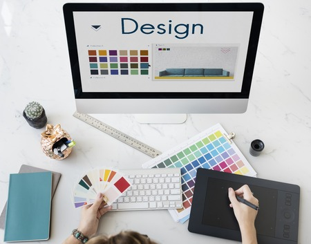 keyboard: Design Choose Color Palette Graphic Concept