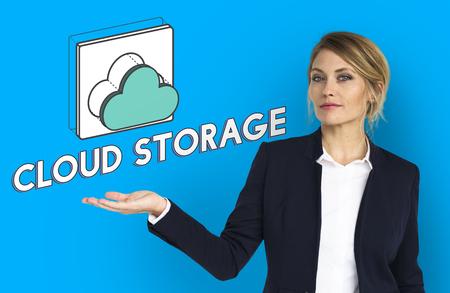 Data computing cloud icon graphic Stock Photo