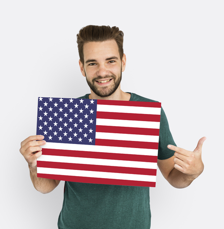 advertise with us: Man Hands Hold American Flag Patriotism