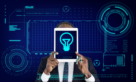 Light Bulb Ideas Creative Design Graphic Stock Photo