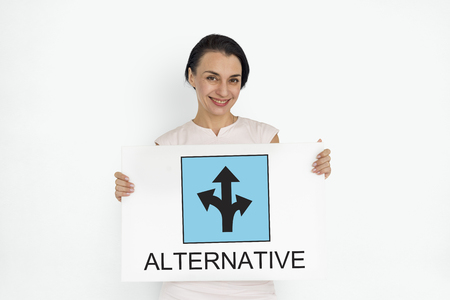 Woman with alternative concept