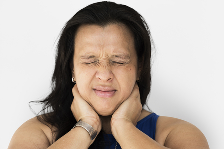 Woman feel really neck pain and muscle Imagens - 78865768