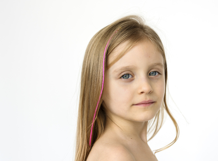 Kid Topless Natural Race Studio Shoot Banque d'images - 78865267