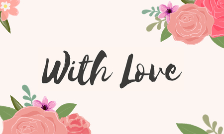 Met Love Letter Message Words Graphic Stockfoto