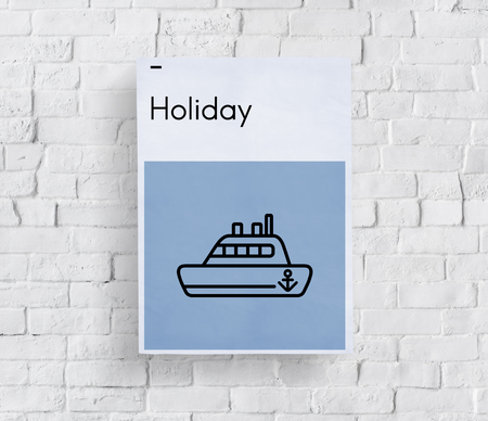 Route Holiday Discover Journey Boat Sign 版權商用圖片