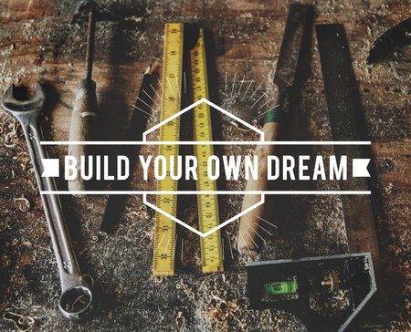 Do What You Love Build Your Own Dream Stay Positive Фото со стока