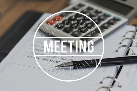 Appointment Meeting Agenda Calendar Concept Stock fotó
