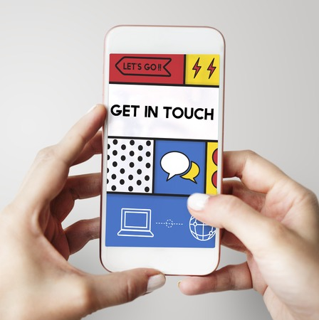 Get In Touch Socialize Concept