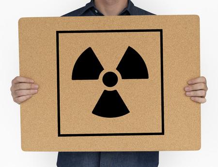 Radioactive Caution Warning Package Sign Symbol Stock Photo