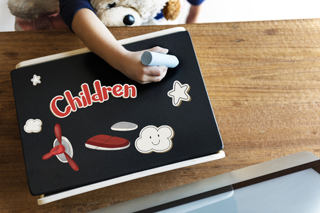 Children fun connect the dots airplane graphic Stock Photo - 78862507