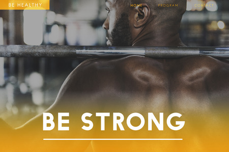 Build Your Own Body Strength Fitness Exercise Get FIt Фото со стока