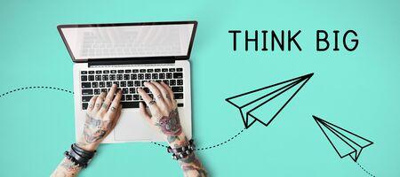 smart goals: Inspire Think Big Creativity Concept
