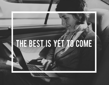 The Best Is Yet To Come Quote Message Motivation Фото со стока