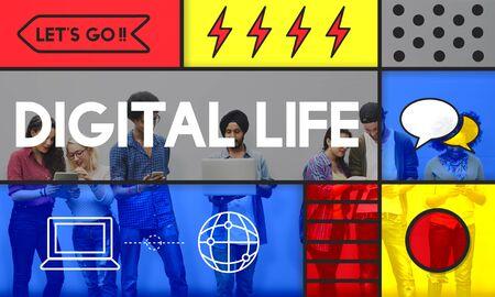 Digital Life Modern Technology Concept Stock Photo