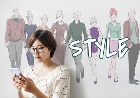 Style Trends Design de mode Classy Chic Concept Banque d'images - 78888490