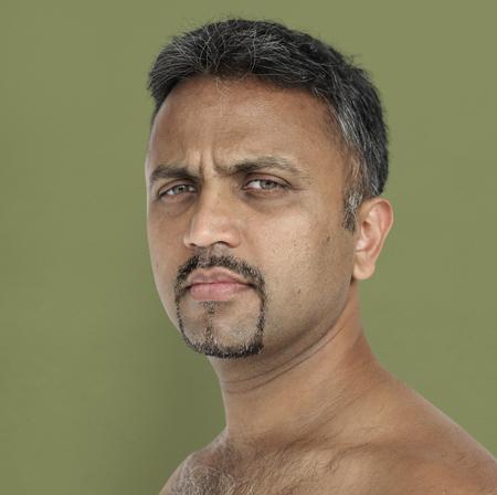 Men Adult Serious Expression Studio Stock Photo