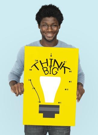 Imagination Innovate Think Big Icon Stok Fotoğraf