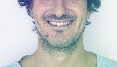 Adult Man Smile Face Expression Portrait Studio