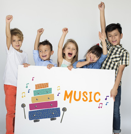 children early education leisure activities music for kids Stock Photo - 78889015