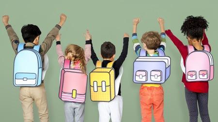 Children School Friends Illustration Concept Banco de Imagens - 78914070