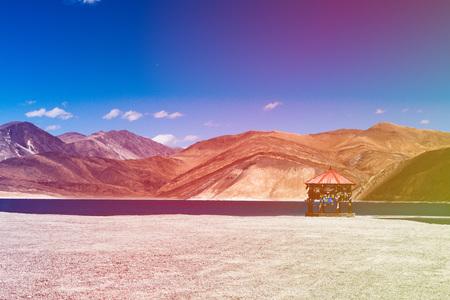 Indian Travel Destination Lake Mountain Landscape Stock Photo