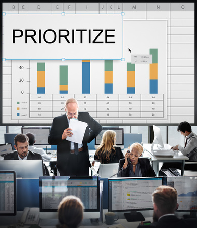 Prioritize Effectivity Important Rank Tasks Urgent Stock Photo