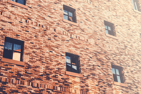Photo of apartment decorated by brick archicultural