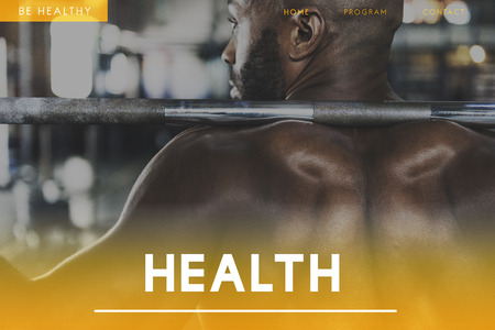 Fitness trainer with health concept