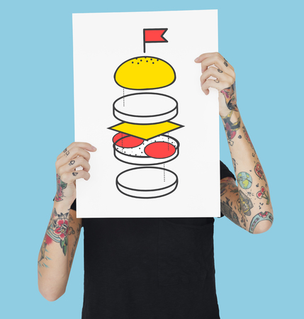 Burger Part Ingredient Bun Cheese Patty Illustration