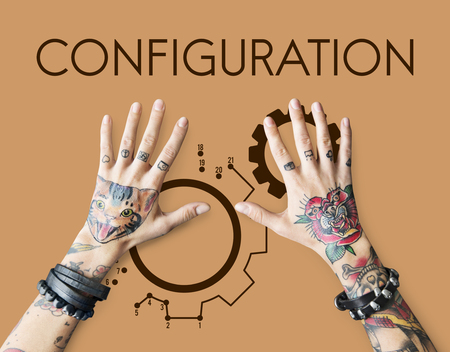 Tattoo hands with configuration concept Stok Fotoğraf