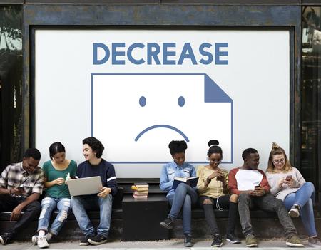 Sadness Fail Problem Recession Down Frustration Icon Reklamní fotografie - 79174272