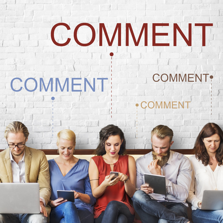 People with comment concept