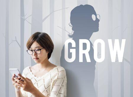 Wachsen Entwicklungswachstumsverbesserungserfolg Standard-Bild - 79375128