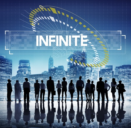 Time Unlimited Infinity Ability Challenge Graphic Stock Photo
