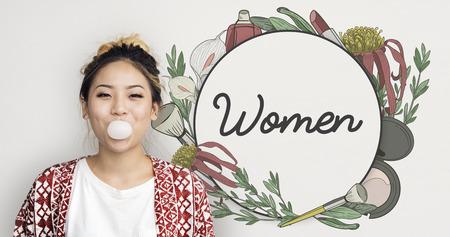 Vrouwelijke Vrouw Grace Floral Frame