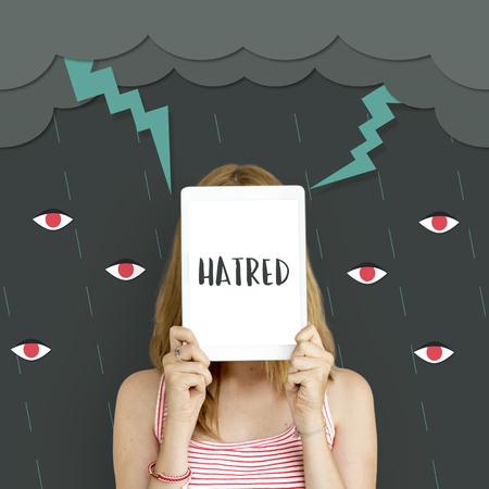 ignorance: Hatred Frustration Ignorance Animosity Concept