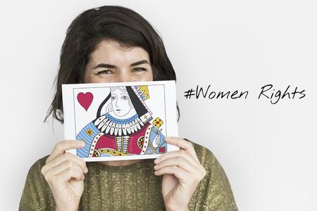 Women Rights Queen Card Concept Imagens