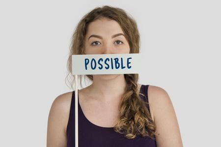 Possible chance chance mot concept Banque d'images - 79241063