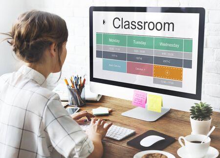 教室クラス研究学術スケジュール 写真素材