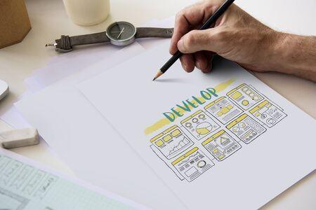 Creatief Ideeën Identiteit Product Ontwikkelen Ontwerp Stockfoto
