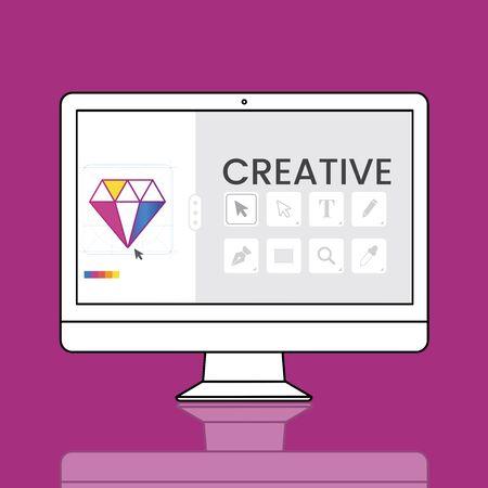 computer simulation: Graphic Design Icon Creative Style