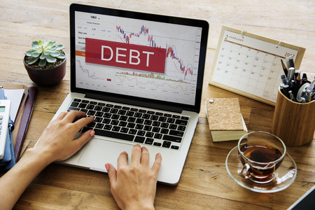 Debt Finance Bill Interest Loan Owed Payment Stock Photo