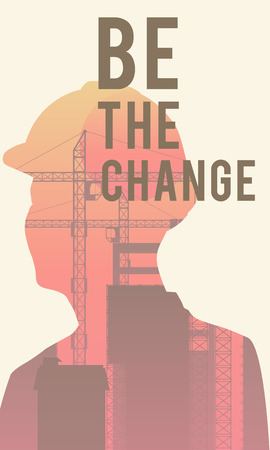 Be the change poster design