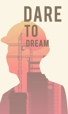 Dare to dream poster design 版權商用圖片