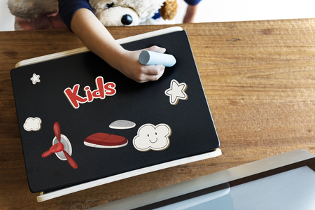 Children fun connect the dots airplane graphic