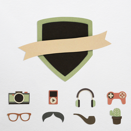 Illustration of badge and hipster lifestyle culture icon